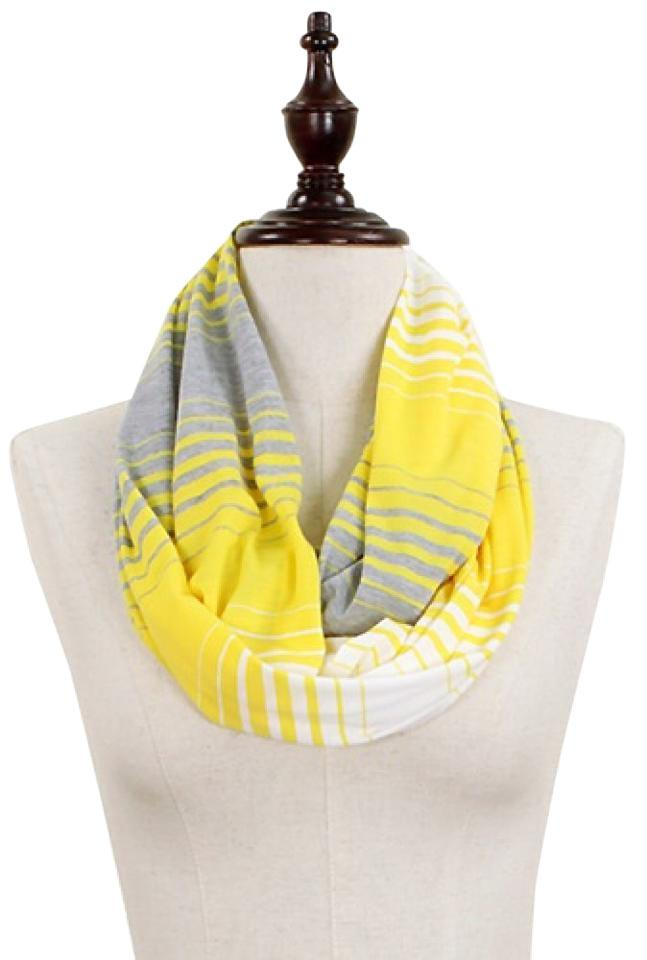 Striped Yellow Jersey Infinity Scarf