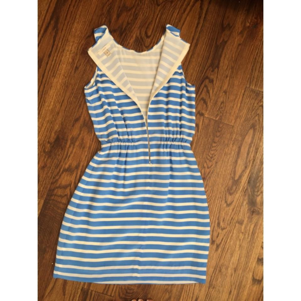J.Crew Blue Striped Party Above Knee Short Casual Dress Size 00 (XXS ...