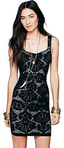 Free People short dress Black Bodycon Crochet/Lace Bodycon Night Out Party Shopbop Intermix Nordstroms Bloomingdales Little on Tradesy