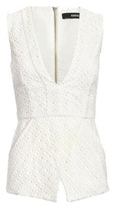NICHOLAS Cutout Intermix Ivory Top White