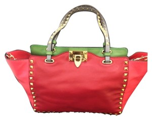 Valentino Tote in Red And green