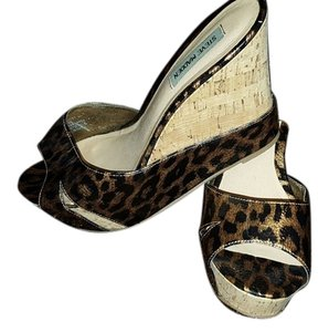 Steve Madden Faux Leather Leopard (black & brown) Wedges