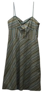 Ann Taylor LOFT short dress Blue green white on Tradesy