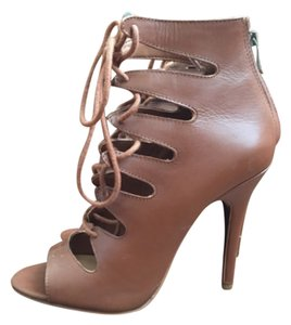 Report Signature Heels Lace Up 7.5 Brown Sandals