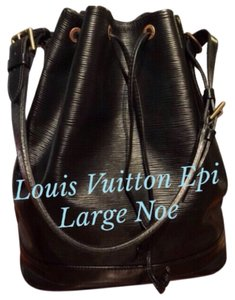 Louis Vuitton Epi Noir Leather Noe Tote in Black