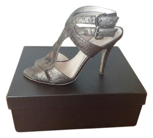 Elie Tahari Shiny Formal Sexy Gold Sandals