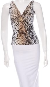 Roberto Cavalli Size L Top Brown cheetah print