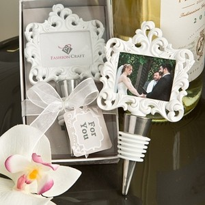 50 Baroque Styled Place Card / Photo Holder With Bottle Stopper