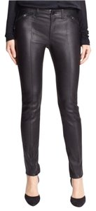 Vince Lambskin Leather Jeans Skinny Pants Black
