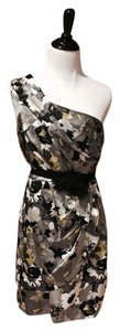 Max and Cleo One Shoulder Satin Floral Dress