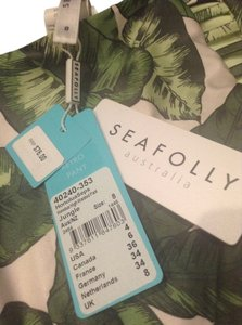 SeaFolly SEAFOLLY HONOLUA BUSTIER BRA & HIGH WAIST BOTTOM JUNGLE sz 4