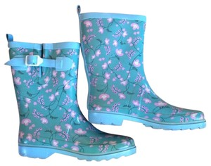 Urban Outfitters Floral Teal Boots