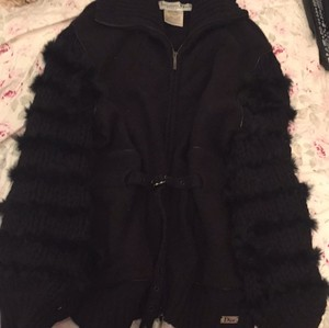 Dior Fur Wool Cashmere Motorcycle Jacket