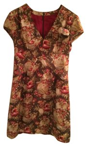 Nanette Lepore short dress Brown and burgundy print on Tradesy