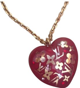 Louis Vuitton Louis Vuitton heart necklace