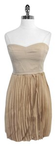 BCBGMAXAZRIA short dress Angel Strapless Pleated Skirt on Tradesy