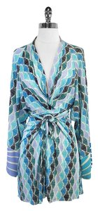 ISSA London short dress Blue Green Silk Kimono Sleeve Wrap on Tradesy