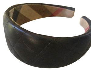 Burberry Burberry Brown leather hair band 100% auth