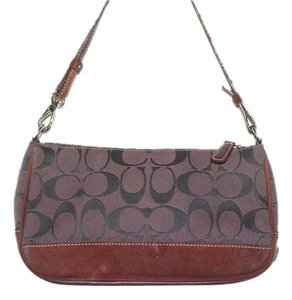Coach Signature Demi Pouch Wristlet in Maroon