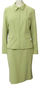 Tahari Tahari 2pc Lime Green Zip Up Jacket & Pencil Skirt Suit Size 10