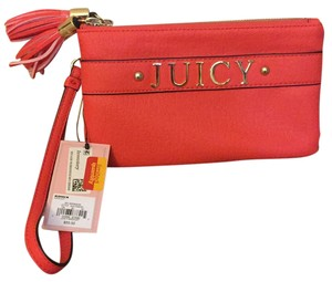 Juicy Couture Wristlet in Orange Geranium