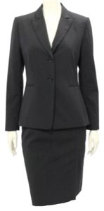 Tahari Tahari Corporate Business Sophisticated Black Pinstripe Blazer + Skirt Suit