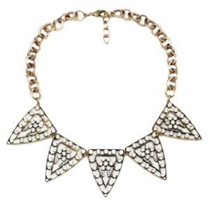 Stone Triangle Statement Necklace