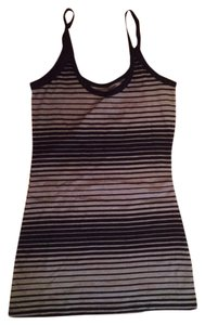 OP Ocean Pacific Women's Black and Grey Stripes Tank Sz M 7/9