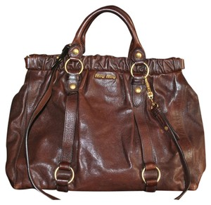 Miu Miu Satchel in Rich Chocolate Brown