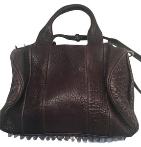 Alexander Wang Silver Hardware Satchel in Dark Brown