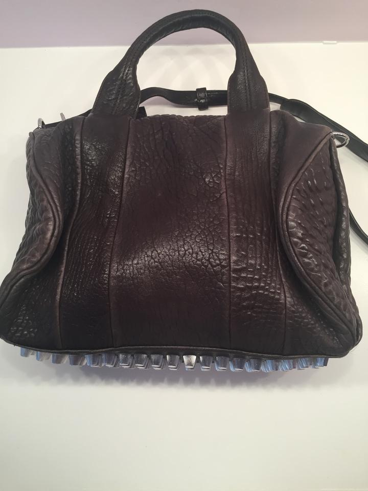 Alexander Wang Rocco Duffel With Silver Hardware Dark Brown ...