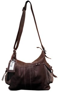 Fossil Pebbled Leather Suede Cross Body Bag