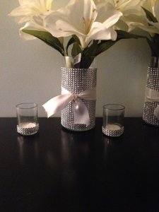 Silver Bling Custom-made Holders (16 Votive/Candle