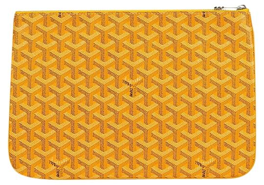 Goyard Logo Monogram Yellow Clutch