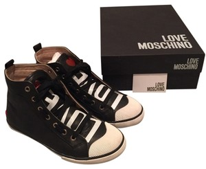 Love Moschino Leather Black Athletic