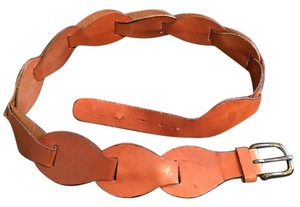 Coach Terra Cotta Leather Chained Belt