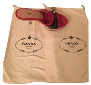 Prada Black and red Sandals