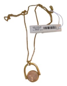 Ann Taylor Long cute AT necklace