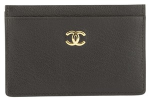 Chanel Chanel Black Lambskin Card Holder Case (Authentic Pre Owned)
