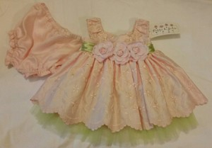 Pippa & Julie Pink Embroidery Baby Girl Dress