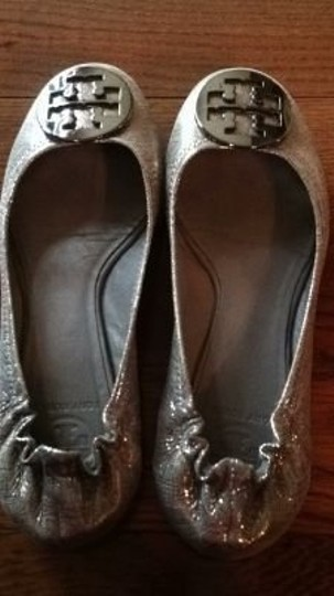 Tory Burch Silver/Anthracite Flats