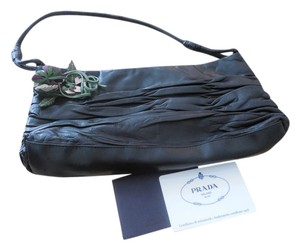 Prada Hobo Suede black Clutch