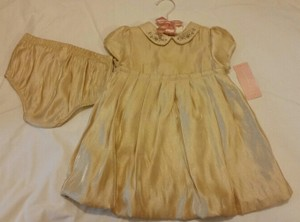 First Impressions Baby Girl Gold Metallic Dress