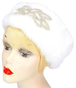 Other White Fur Rhinestone Crystal Accent Stretchable Winter Headband Earmuff Hair Accessory