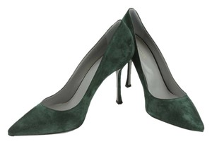 Sergio Rossi Suede Pump Bottle Green Pumps