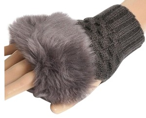 Other BRAND NEW!!!! Grey Furry Fingerless Gloves FREE SHIPPING