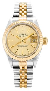 Rolex ROLEX DATEJUST 69173 18K YELLOW GOLD AND STEEL LADIES WATCH