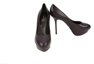 Sergio Rossi Leather Pump Aubergine (Eggplant) Pumps