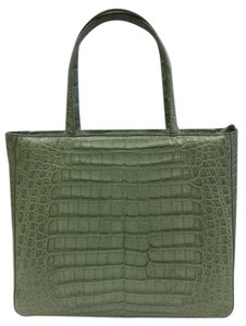 Suarez Alligator Tote in Green