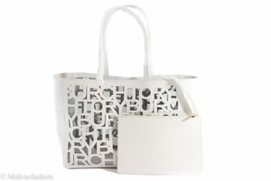 Tory Burch Tb Cut-out Handbag Tote in Optic White
